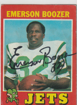 Emerson Boozer Autograph 1971 Topps Football Card