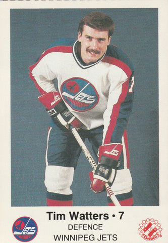 Tim Watters Winnipeg Jets Police Team Issued Card