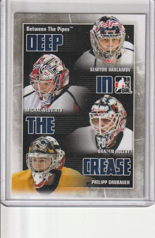 Braden Holtby, Michal Neuvirth, Philipp Grubauer, Semyon Varlamov 2010 ITG Between The Pipes Deep In The Crease #DC30