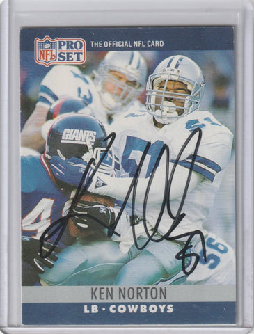 Ken Norton Autograph 1990 Pro Set Football Card