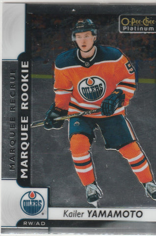 Kailer Yamamoto 2017-18 O-Pee-Chee Platinum #163  Marquee Rookies Rookie Card