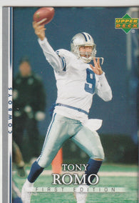 Tony Romo 2007 Upper Deck First Edition #25
