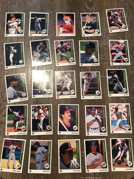 1989 Upper Deck Baseball Lot of 25 Cards #7