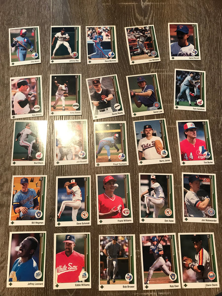 1989 Upper Deck Baseball Lot of 25 Cards #10