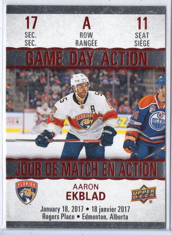 Aaron Ekblad 2017-18 Upper Deck Tim Hortons Game Day Action GDA-11