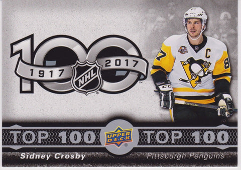 Sidney Crosby 2017-18 Upper Deck Tim Hortons Top 100 TOP-1
