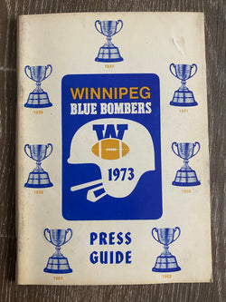Winnipeg Blue Bombers 1973 Media Guide