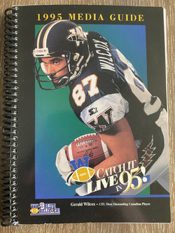 Winnipeg Blue Bombers 1995 Media Guide