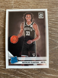 Nicolas Claxton 2019-20 Donruss Optic Basketball RATED ROOKIE Card #171 Nets