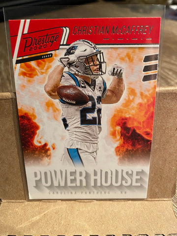CHRISTIAN McCAFFREY 2020 Panini Prestige POWER HOUSE Carolina Panthers