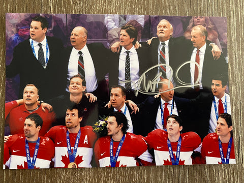 Mike Babcock Autograph Team Canada 4x6 Photo