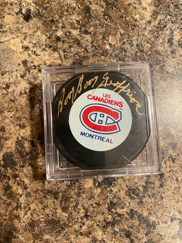 Boom Boom Geoffrion Autograph Montreal Canadiens Puck