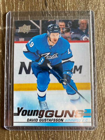 David Gustafsson 2019-20 Upper Deck Series 2 Young Guns #461 Winnipeg Jets