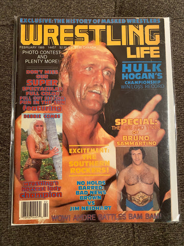 Wrestling Life Magazine Feb 1989 - Hulk Hogan