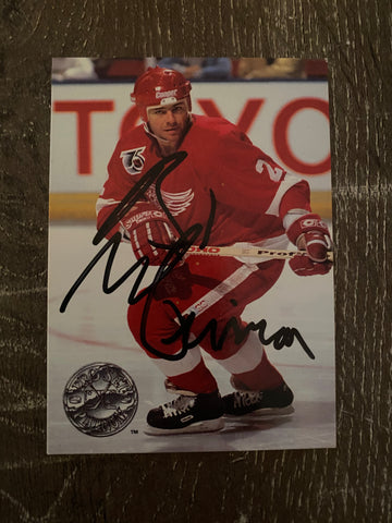 Brad McCrimmon Autographed 1991-92 Platinum Hockey Card