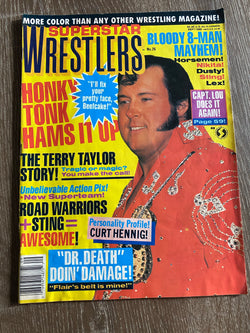 Superstar Wrestlers Magazine - September 1988 - Honky Tonk Man