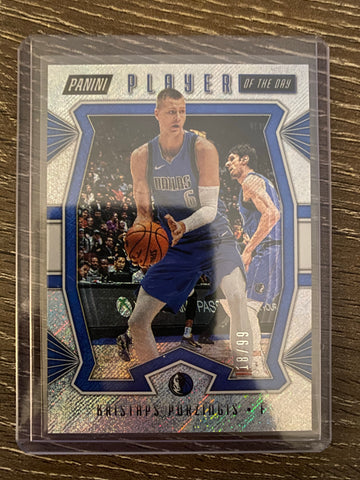 Kristaps Porzingis 2019-20 Panini Player of the Day SHIMMER #4 18/99