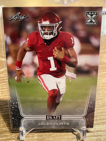 JALEN HURTS 2020 Leaf Draft #15 RC Rookie Philadelphia Eagles Oklahoma Sooners