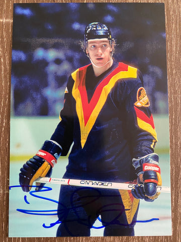 Brent Ashton Autograph Vancouver Canucks 4x6 Photo