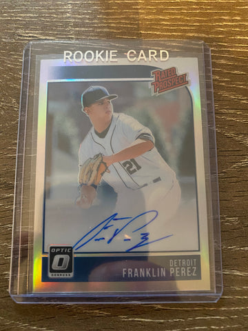 FRANKLIN PEREZ 2018 DONRUSS OPTIC RATED PROSPECT AUTO