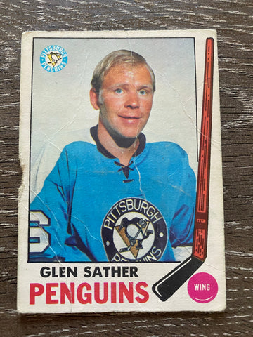 Glen Sather 1969-70 O-Pee-Chee #116 LOW GRADE