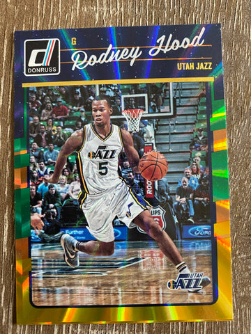 Rodney Hood 2016-17 Panini Donruss Green and Yellow Holo Laser #53