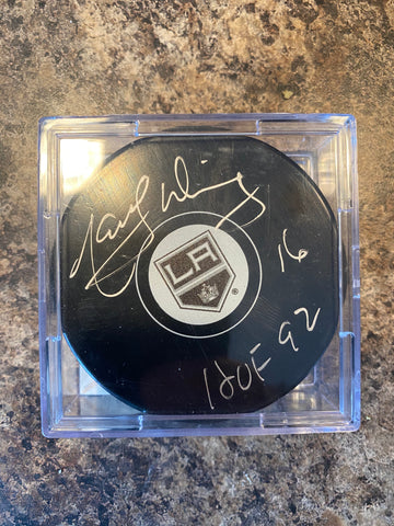 Marcel Dionne Autograph Los Angeles Kings Puck