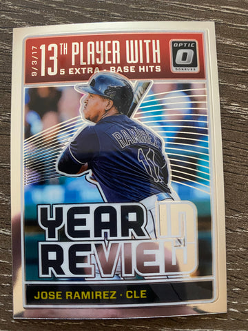 JOSE RAMIREZ 2018 Donruss Optic Year In Review Insert #YR12