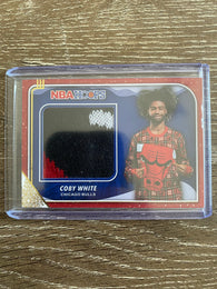 Coby White SWEATER PATCH RC — 2019-20 NBA Hoops Winter #RS-CBW