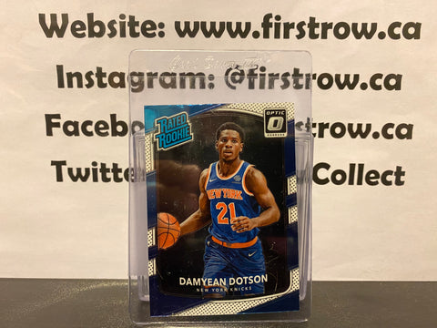 Damyean Dotson 2017-18 Panini Donruss Optic Basketball Rated Rookie #166 -Knicks