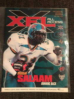 XFL All Access - Official Gameday Program 2001