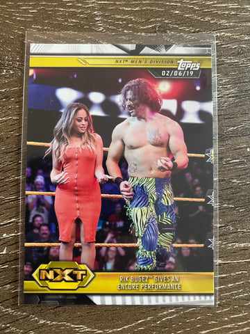 Rik Bugez Gives an Encore Performance 2019 Topps WWE NXT #76