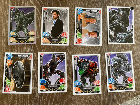 Transformers 8 Card Topps Lot