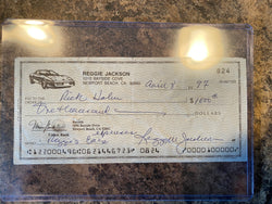 Reggie Jackson Signed Cancelled Cheque