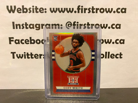 Coby White 2019 Panini Chronicles Hometown Heroes Optic Prizm Silver #551 Rookie Card