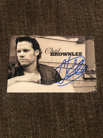 Chad Brownlee Autograph 4x6 Photo