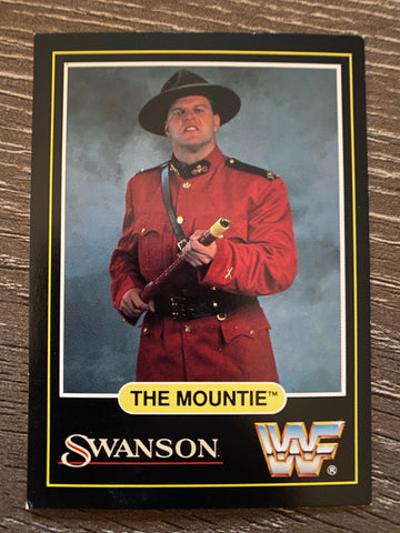 The Mountie 1991 WWF Swanson Trading Card