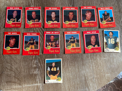 Hamilton Ti-Cats Vintage 13 Football Card Lot
