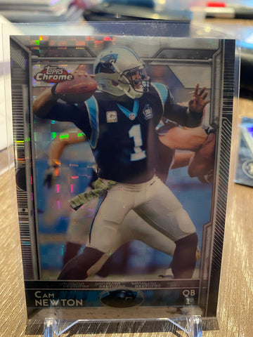 Cam Newton 2015 Topps Chrome Xfractor #20 Panthers Patriots
