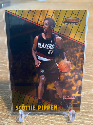 SCOTTIE PIPPEN 1999-00 Bowman's Best #46 Portland Trail Blazers Chicago Bulls