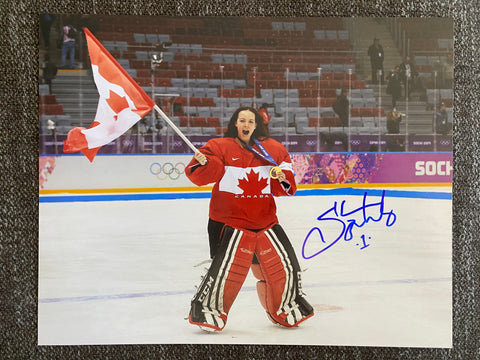 Shannon Szabados Autographed Team Canada 8x10 Photo