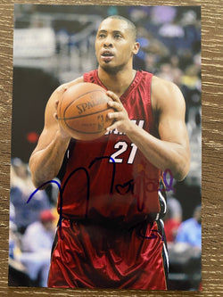 Jamaal Magloire Autograph Miami Heat 4x6 Photo