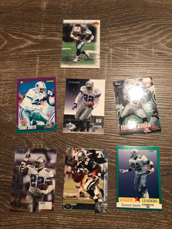 Emmitt Smith Dallas Cowboys 7 Card Lot