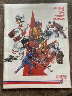 Canada Cup 1976 program OFFICIAL Carling O'Keefe Coupe CANADA
