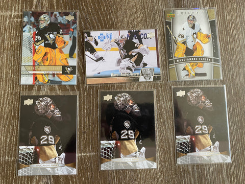 Marc-Andre Fleury 6 Hockey Card Lot