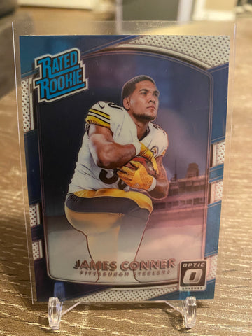 James Conner 2017 Donruss Optic #172 Rated Rookie STEELERS