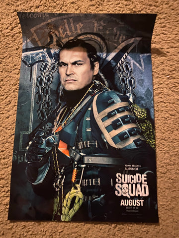 Adam Beach Autographed 12x17 Suicide Squad Photo