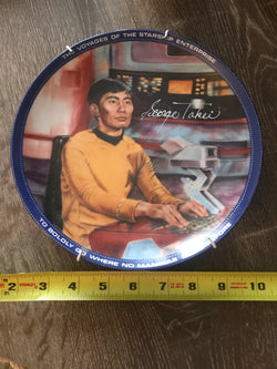 "George Takei ""Sulu"" Autographed Limited Edition 1984 Star Trek Plate"