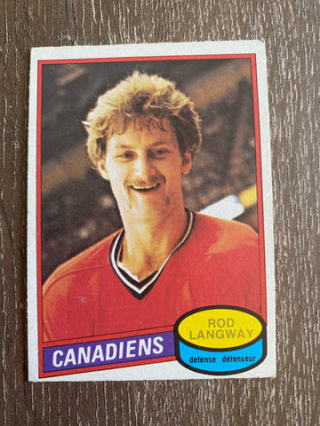 Rod Langway 1980-81 O-Pee-Chee #344 Rookie Card