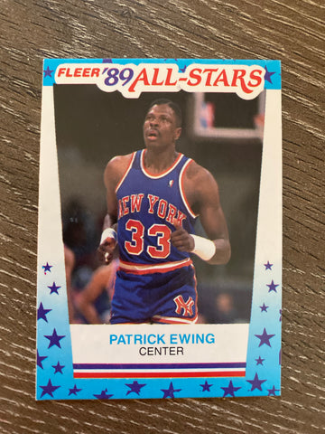 Patrick Ewing 1989-90 Fleer Stickers #7 Knicks